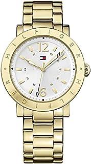 ساعة اوبري للنساء من تومي هيلفجر بمينا فضي وسوار ستانلس ستيل - 1781619