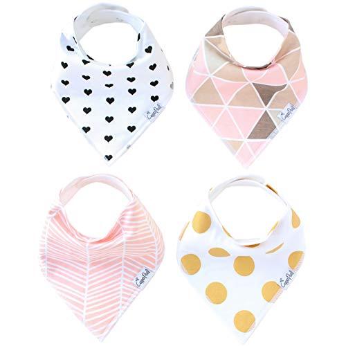 Copper Pearl Bébé Bandana Drool Bibs Pour Bave Et Dentition 4 Pack Set cadeau pour les filles « Set blush »