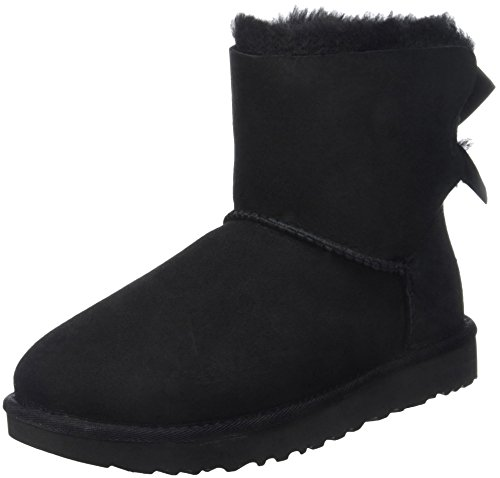 UGG Women's Mini Bailey Bow II Boot, Black, 8