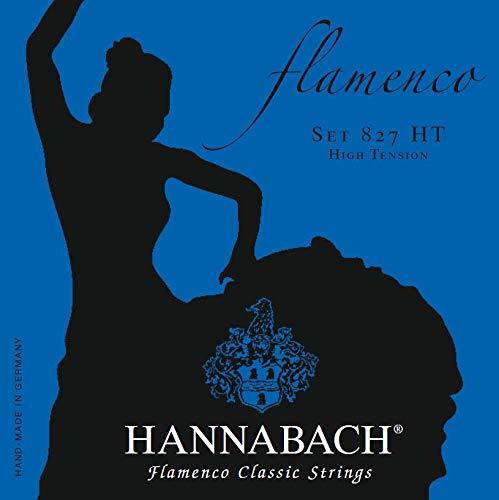 Juego de cuerdas para guitarra flamenca Hannabach 827 HT. Tensión alta