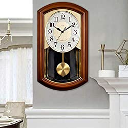 POETRY Pendulum Wall Clocks Grandfather Wooden Wall Clock with Music Box Traditional Wooden Pendulum Clock for a Great Housewarming or Birthday Gift Wall Clock Chimes Hourly with Westminster Melody