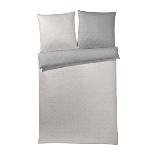 Joop! Bettwäsche Flowing Pearls Stone 1 Bettbezug 240 x 220 cm + 2 Kissenbezüge 80 x 80 cm