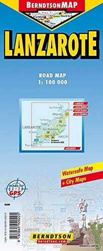 Lanzarote: 1:100 000 +++ Arrecife, Islas Canarias, Parque Nacional de Timanfaya, Time Zones