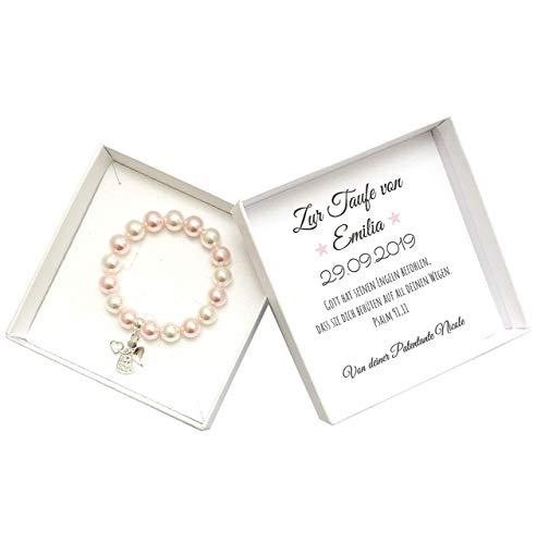 Engel Armband aus 925 Sterling Silber, Taufgeschenk für Mädchen, Taufarmband Schutzengel
