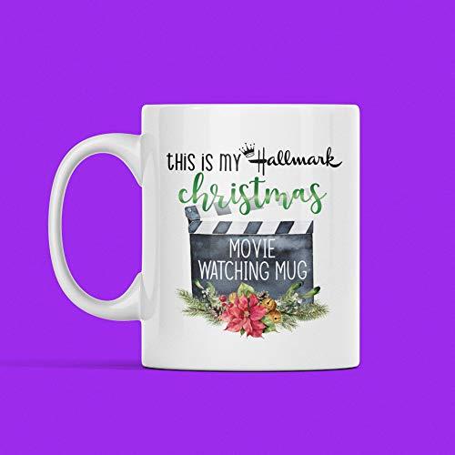 Hallmark - Taza de regalo de Navidad para mamá, papá, maestro, mejor amigo de esta es mi película, envío gratis