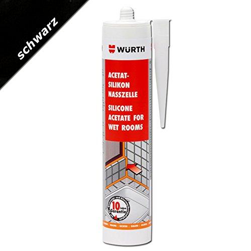 Würth Acetat - Silikon Nasszelle Schwarz 310 ml Kartusche