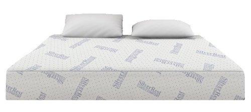 Silver Rest Cool Comfort 12-Inch 3-Layer Gel Memory Foam Mattress, Queen Size
