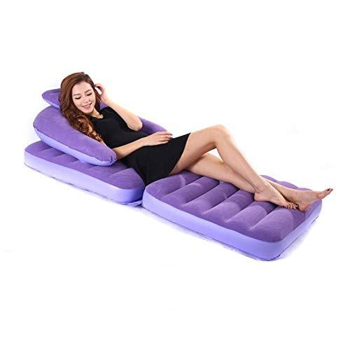 FGKING Ausziehbare Stuhl aufblasbares Bett, aufblasbare Lounger, Klima Sofa Hängematte, Camping-Zubehör, Anti-Air Undichte für Outdoor Hinterhof Strand Reisen Picnics