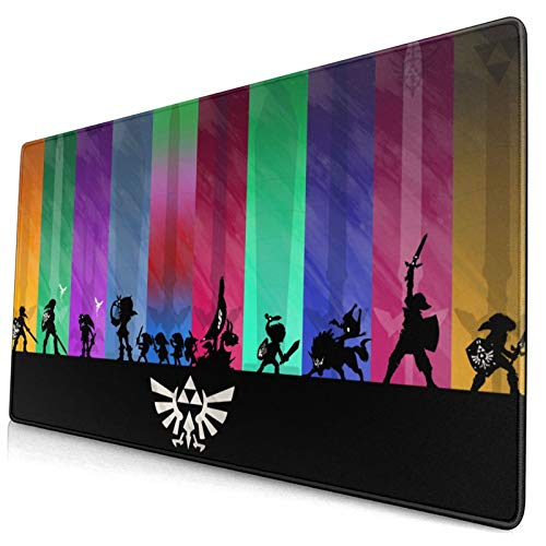 DFSHDYD Sports The Legend of Zelda Gaming Mousepad Mouse Pad Rectangle Mouse Mat for Computer Desk Laptop Office Non-Slip Rubber 4075cm.