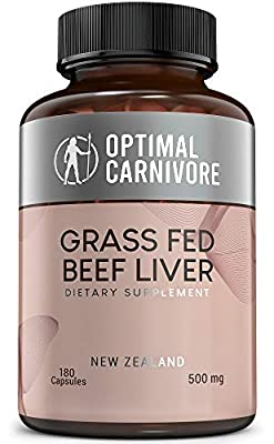 Grass Fed Beef Liver Capsules, Dessicated Beef Liver Supplement, Ancestral Superfood from New Zealand (180 Pills) by Optimal Carnivore