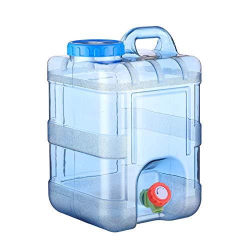 Sliveal Wasser Kanister 5~25 Liter Mit Hahn Camping Lebensmittelecht Weithals Bpa Frei Blau Auto Tragbar Geeignet Für Outdoor-Camping Und Fahren (20L)