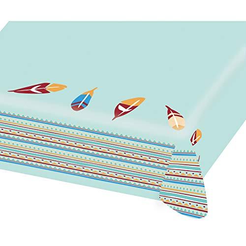Tischdecke * Tipi & Tomahawk * aus Papier für Kindergeburtstag und Motto-Party | Mitgebsel Tüten aus Papier | Table Cover Cloth Indianer Wilder Westen Kinder Geburtstag Mottoparty Sioux Amerika USA