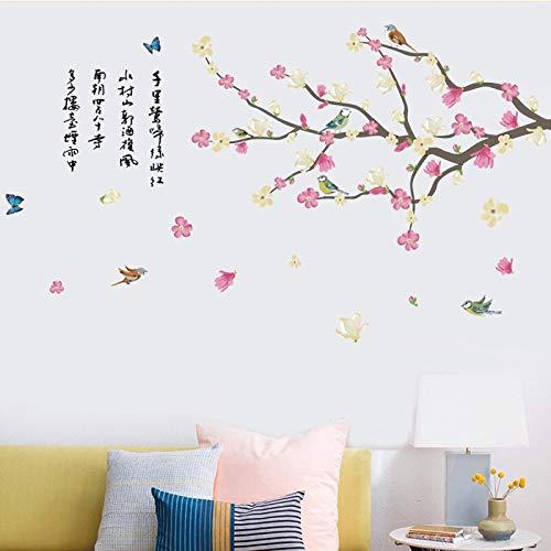 BLOUR 2021 Limited Bird kann Stick entfernen Die Studie des Sitzens Sofa TV-Einstellung Landschaft Glas Film Wand Poster Foto