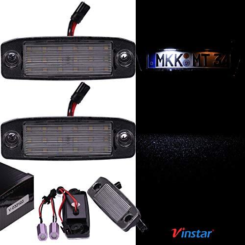 VINSTAR LED Kennzeichenbeleuchtung E-geprüft CAN-Bus 18 LEDs je Modul 6000 Kelvin kompatibel mit Allen Modellen in der Produktbeschreibung!
