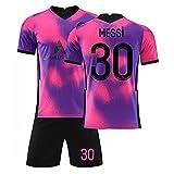DJXLMN Jersey # 30 M.e.s.s.i Fútbol, niños Adultos, Camiseta Ligera y Transpirable, Juego de fútbol, Regalo para jóvenes.XL Without Socks.
