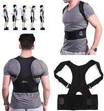 Sankirtan Adjustable Magnetic Therapy Posture Corrector Back Support Brace Shoulder Belt for Men and Women (S)