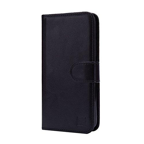 32nd Portafoglio Custodia PU Pelle per Lenovo K6, Flip Case con Chiusura Magnetica e Slot per Schede - Nero