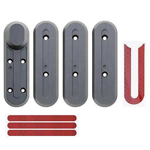 4 piezas negro Scooter eléctrico rueda cubo tapa protectora plástico reemplazo parte compatible con Xiaomi M365