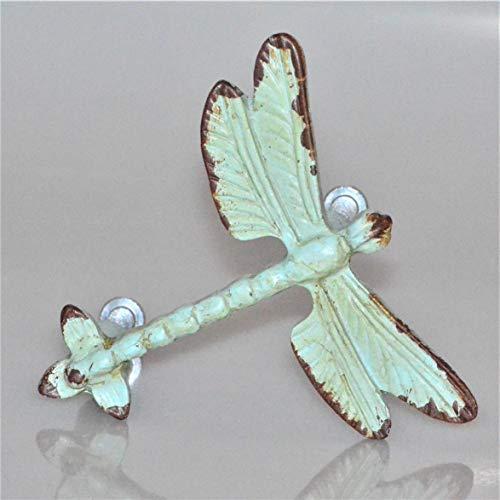 Charleston Knob Company EE-337 Vintage Verdigris Dragonfly Drawer Knob, as seen