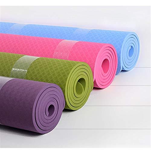 LDH Esterilla Yoga Extra Ancha 183 * 122cm Ejercicio Fitness 10mm de Espesor Pilates Interior Pilates Yoga Juega Eco Friendly NBR Doble (Color : Púrpura)