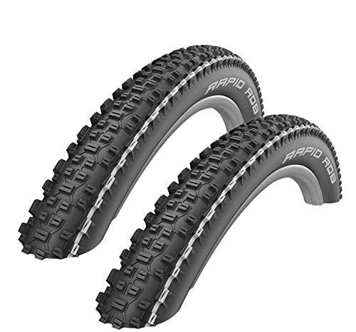 2 x Schwalbe Rapid Rob Fahrrad-Reifen Decke weißer Streifen 57-584 (27,5 x 2,25)