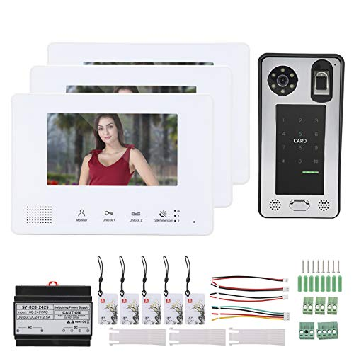 Timbre con video, timbre flexible con intercomunicador manos libres para interiores para la familia