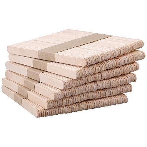 G2PLUS 300PCS Batonnet Bois,Bâton Glacé Bâtons de Bois Bricolage, Bâtonnets en Bois pour Travaux Manuels Naturel,Idéal pour Les Bricolages et l'artisanat(Ecru)