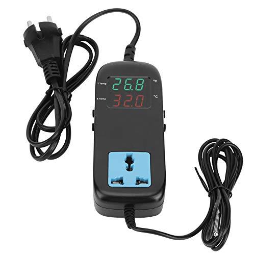 Termostato elettronico con termoregolatore digitale anti-interferenza, per serra di ortaggi, per conservazione frigorifera, per acquacoltura, per serbatoi d'acqua domestici
