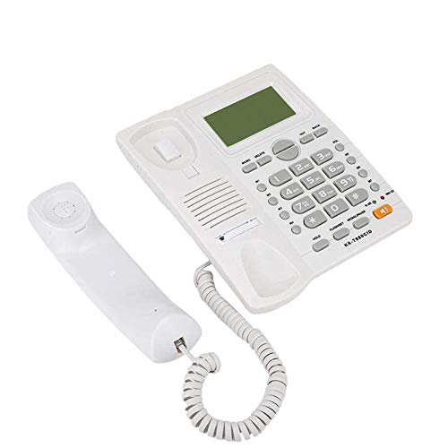 Teléfono de escritorio, con Identificador de llamadas Fecha de tiempo Mostrar Home Landline Teléfono, Manos libres, Sin Diseño de Batería