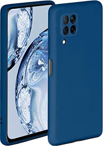 ONEFLOW Soft Hülle kompatibel mit Huawei P40 Lite Hülle aus Silikon, erhöhte Kante für Displayschutz, zweilagig, weiche Handyhülle - matt Blau