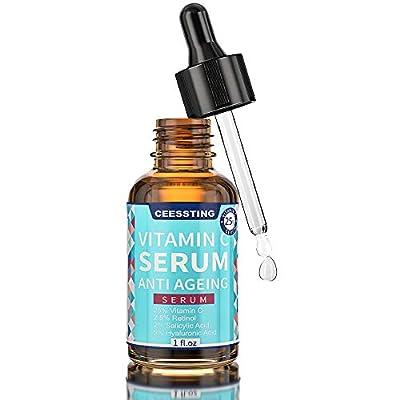 Vitamin C Serum for Face - Envisha Aging Facial Serum with Hyaluronic Acid & Vitamin E, Improve Skin Texture & Glow, Reduce Wrinkles, Fine Lines, Fade Dark Spots