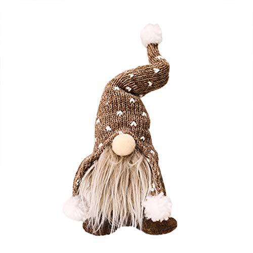 30cm Handgemachte Weihnachten Deko Wichtel Figuren süße Weihnachtsmann Santa Tomte Gnom, Skandinavischer Zwerg Geschenke für Kinder Haus Weihnachten Ostern (A#03)
