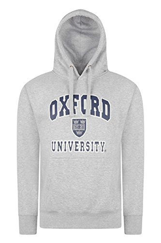 Oxford University Hoodie hochwertig bedruckt – Sweatshirt Offizielles Produkt + One Oxford University oder London England T-Shirt Gratis Gr. M, H-Grey