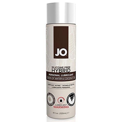 System JO Silicone Free Hybrid Warming Lubricant with Coconut, 4 Fluid Ounce