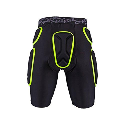 O'NEAL | Protektoren-Hose | Motocross Enduro Motorrad | Beständiger High-Density Eva Schaum, Integrierte Belüftungspads, elastischer Taillenbereich | Trail Short | Erwachsene | Schwarz Lime | Größe M