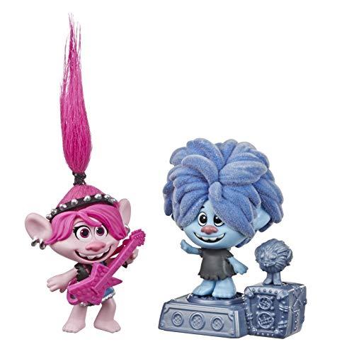 Hasbro Trolls- Trolls World Tour-Rock City, Pupazzo con Testa dondolante Figurine, Multicolore, E8581