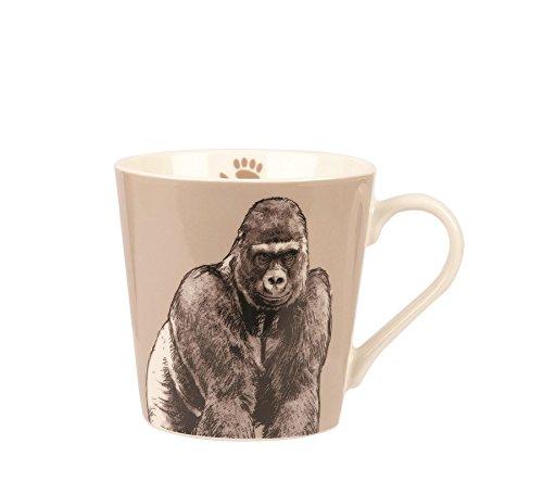 Couture Königreich Gorilla Hummeln Tasse, Keramik, Mehrfarbig, 9.1x 9.1x 9.1cm