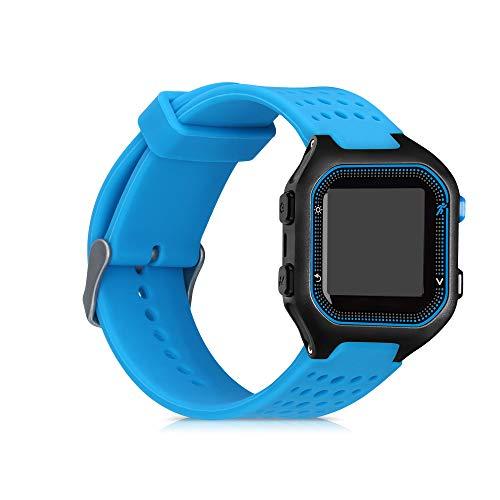 kwmobile Pulsera Compatible con Garmin Forerunner 25 (L - 40 x 47 x 13.9 mm) - Brazalete de Silicona en Azul sin Fitness Tracker