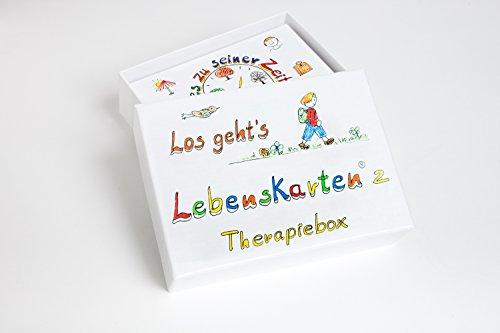 Livskort 2 Terapiebox av Barbara folk (88 kort, laminerade, A7-format: 7,5 x 10,5 cm) | Terapikkort – utvecklat för frekvent användning i psykoterapi, rådgivning och coaching
