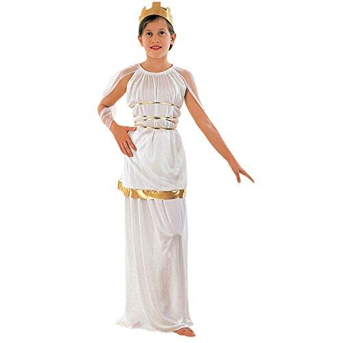 Eurocarnavales - Cs801012/m - Costume Romaine Athena Taille 7/9 Ans Environ