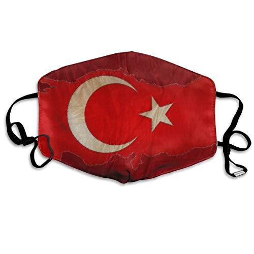 Rode vlaggen Turkije Kaarten Turkse Unisex Volledige Dekking Buis Gezicht Masker Bandanas UV Bescherming Hals Gaiter Hoofdband