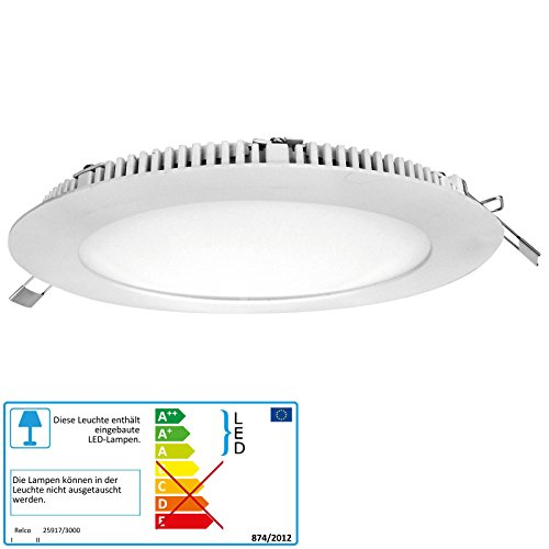 Relco LED Downlight Otto T2 22 Watt warmweiß 830 rund weiß