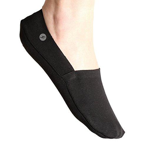 Storm Empire Sneaker Socken Herren Damen UNISEX No Show Socks Unsichtbare Socken Füßlinge [3 Paar] - Rutschfest, Reflektierendes Logo (Schwarz)