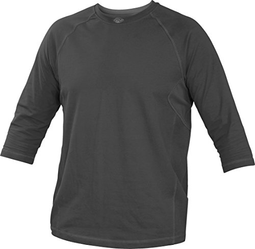 Rawlings Sporting Goods Erwachsene 3/4 Sleeve Performance Shirt, Herren, Graphit