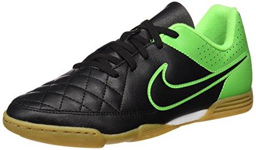 Nike Jungen Tiempo Rio II IC Fußballschuhe, Grün Schwarz, 34 EU