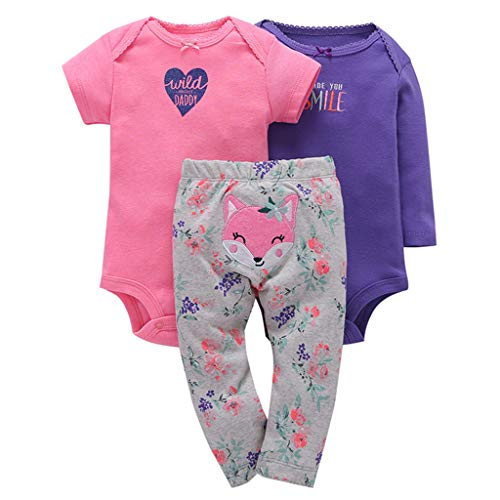 Vine 3-delig pak baby rompers jongens meisjes katoen overall lange mouwen korte onesies bodysuit broek pasgeborenen cadeausets