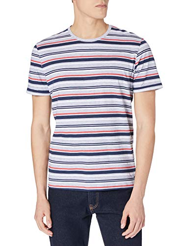 TOM TAILOR Herren 1020894 Stripe T-Shirt, 15220-Powerful Red, 3XL