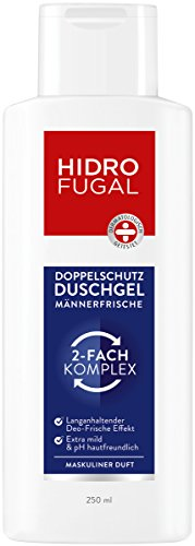 Hidrofugal Duschgel Männer Frische (250 ml), Doppelschutz Duschgel für Männer reduziert Geruchsbildung und beugt geruchsbildenden Bakterien vor, Duschbad mit antibakteriellem Schutz
