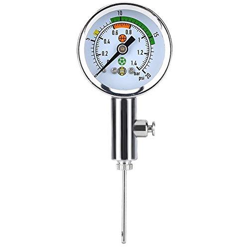 Cestbon Manometer, Mini Ulitity Air Manometer Barometer-Tool Für Basketball Fußball Volleyball Ball Manometer,Silber