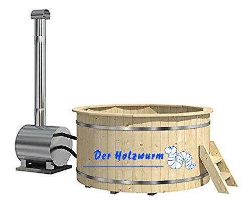 haebelholz Badebottich Ø 200 cm mit Außenofen
